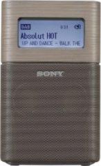 Zwarte Sony XDR-V1BTD - Draagbare DAB+ radio met Bluetooth en wekker - Bruin