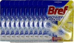 Bref Power Aktiv - Lemon - WC Block - 10 x 50gr - Voordeelverpakking