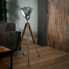 Antraciet-grijze Easy Furn Vloerlamp Rosario