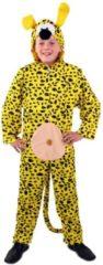 Gele PartyXplosion Marsupilami Aardig Beest Strip Kind Kostuum | Maat 128 | Carnaval kostuum | Verkleedkleding