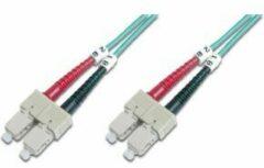 Digitus DK-2522-03/3 Glasvezel Aansluitkabel [1x SC-stekker - 1x SC-stekker] 50/125 µ Multimode OM3 3.00 m