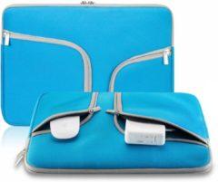Huismerk - Bestelhoesje Macbook Sleeve Voor MacBook Air 11 inch - Laptoptas - Laptop Sleeve met rits - Turquoise