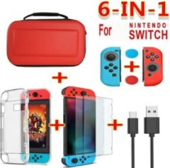 Shotkings Nintendo Switch hoes hardcase 6in1 pakket rood
