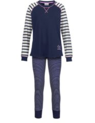 Schlafanzug Ringella marine/ecru/rose