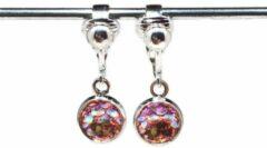 MNQ bijoux - Clipoorbellen - Oorclips - Kind - Meisjes - Zeemeermin - Roze - Hangoorbellen