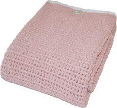 Roze Fair and Cute Gehaakt Ledikantdeken gevoerd Light Pink