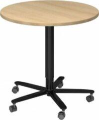 Hjh OFFICE PRO Bistro 80R D - Systeem conferentietafel Wit / Zwart