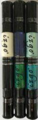 IZGO Naildesign 2 in 1 Nagellak DUO Nail Art Pen Ocean met extra zwart en wit pen