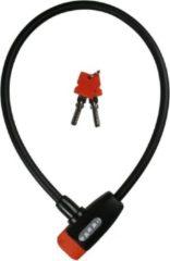 Xolid Kabelslot met 2x Sleutel - Compact Fietsslot uit Stevige Staalkabel - Gebruik Slot met Fiets - Alternatief voor Ketting Ringslot Cijferslot Vouwslot Beugelslot - Lengte 65CM Dikte 10MM - Zwart Oranje