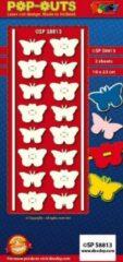 Paarse Doodey - pop outs Vlinders