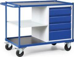 Protaurus TAUROFLEX Werkstattwagen 250 kg mit 4 Schubladen und 1 Ablage, 115 x 60 x 84 cm