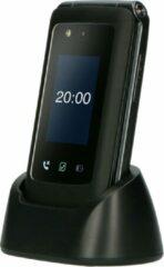 Zwarte Fysic F20 Mobiele klaptelefoon met SOS - WhatsApp, Facebook en Youtube standaard geïnstalleerd