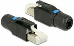 Zilveren DeLOCK RJ45 toolless connector voor CAT6/CAT6a afgeschermde netwerkkabel