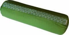 Samarali bolster (Groen) - ethisch geproduceerd van 100% biologisch katoen (GOTS gecertificeerd)|2lagen | 20 x 20 x 66 cm |Verkrijgbaar in 6 natuurlijke kleuren