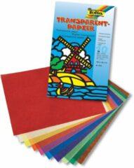 Transparant papier Folia 10 kleuren 42grs 18,5x29,7cm 10 vel