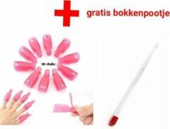 Roze Bella Jewels Gelnagellak -Remover- Clips- Set - gelpolish - nagellak - Gellak -nagels -nagel -Vinger - klemmetjes - nagelklemmetjes - Verwijderen - Shellac - Soak Off - Nailclips - Acryl - Gel- bokkenpootje- cuticle- pucher- nagelriemen - verzorging-