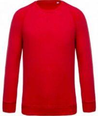 Kariban Heren Organische Raglan Sweatshirt (Rood)