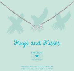 Heart to get N275XXX16S Ketting XXX Hugs & Kisses zilver