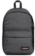 Blauwe Eastpak Back To Work Rugzak 15 inch laptopvak - Black Denim