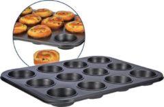 Zwarte Haushalt International Muffin vorm voor 12 muffins