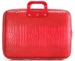 Rode Bombata Cocco Maxi 17 inch Hardcase Laptoptas Bright Red, helder rood