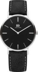 Zilveren Danish Design watches edelstalen dameshorloge Ærø Black Black Medium IV13Q1231