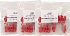 TEPE INTERDENTALE RAGERS ROOD 0,5 MM 3 x 25 stuks - Voordeelverpakking - *Beste Koop*