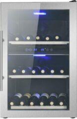 Blauwe Le Chai LB400XS - Wijnkoelkast 2 zones - RVS - 40 Flessen - Vrijstaand