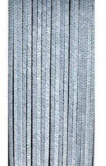 Grijze Lesliliving Deurgordijn chenille grijs 90x220cm, 22 strengen