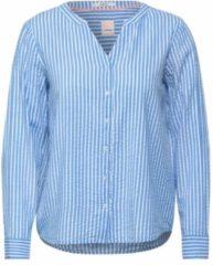 Cecil gestreepte blouse lichtblauw wit