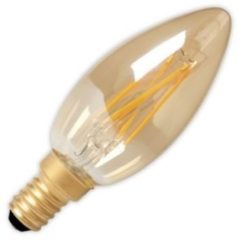 Calex LED volglas Filament Kaarslamp 240V 3,5W 200lm E14 B35, Goud 2100K CRI80 Dimbaar