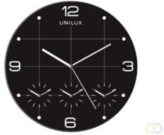 Wandklok unilux klok on time 30.5 cm metallic grijs