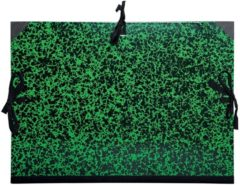Groene Heutink Exacompta tekenmap met linten formaat 26 x 33 cm (A4)