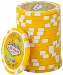 Blauwe Las Vegas chips €100,- (per 25 stuks)