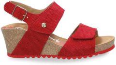 Panama Jack Vanessa Menorca B1 sandalen met sleehak rood - Maat 36