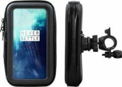 Shop4 - OnePlus 7T Pro Fietshouder Stuur Spatwaterdicht Zwart