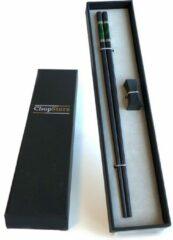 Donkergroene ChopStore Bungo Dark groen chopsticks in cadeauverpakking (1 setje chopsticks + 1 rest)
