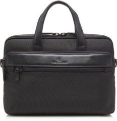 Zwarte Castelijn & Beerens Bravo businesstas met leren details en 15,6 inch laptopvak - unisex