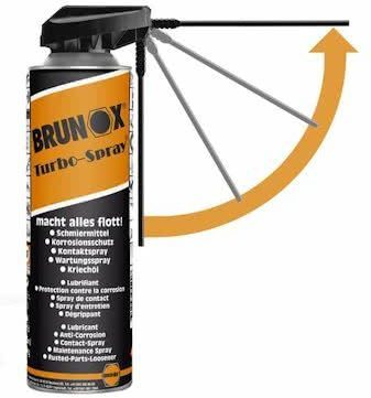 Afbeelding van Spray brunox turbo 500 ml power-klik smart straw - ORANJE