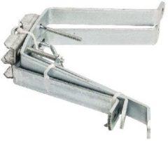 Zilveren König SAT-MWM18 Gegalvaniseerde Stalen Mast - Muurbeugelset 18 cm