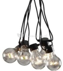 Konstsmide 2378-100 Party-lichtketting Buiten Energielabel: A (A++ - E) werkt op het lichtnet 10 + 80 Gloeilamp, LED Helder Verlichte lengte: 4.5 m