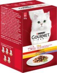Gourmet Mon Petit Duo Vlees - Rund, Kip en Gevogelte - Kattenvoer - 4x (6 x 50 g)