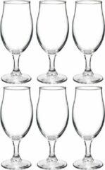 Transparante Bormioli Rocco 12x Stuks luxe bierglazen speciaalbier 260 ml - Bierglazen - Glazen voor speciaalbier
