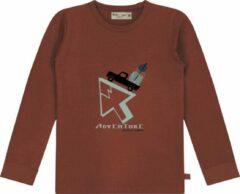 Rode Smitten Organic 'Adventure Drive' T-Shirt - Maat 86