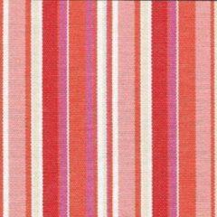 Acrisol Bali Rojo 1023 rood, roze, oranje, wit gestreept stof per meter buitenstoffen, tuinkussens, palletkussens