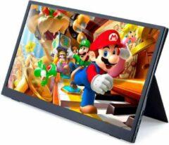 """Lipa AX-50 portable monitor Full HD 15.6"""" / HDMI / 2x USB C / Met hoes en kickstand / Ook voor Nintendo Switch, Xbox en Playstation / Makkelijk mee te nemen"""