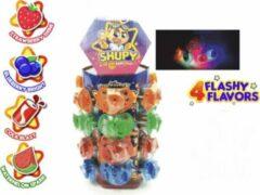 Fun-Tastex Babyspeen snoep met licht- lolly- 24 stuks X 15 gram- verjaardag cadeau- uitdeelcadeau-traktatie