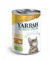 Yarrah - Natvoer Kat Blik Chunks met Kip Bio - 12 x 405 g