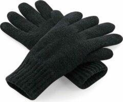 Beechfield Classic thinsulate handschoenen zwart S/M