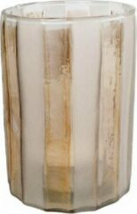 Van Manen Theelichthouder Monique 15 X 10 Cm Glas Wit/goud